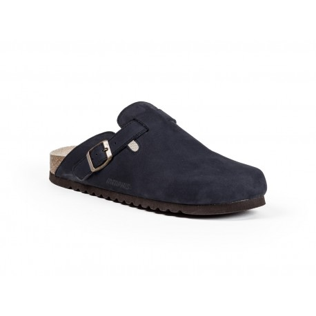 MEN'S CLOSED SLIPPERS IN LEATHER AND CORK
